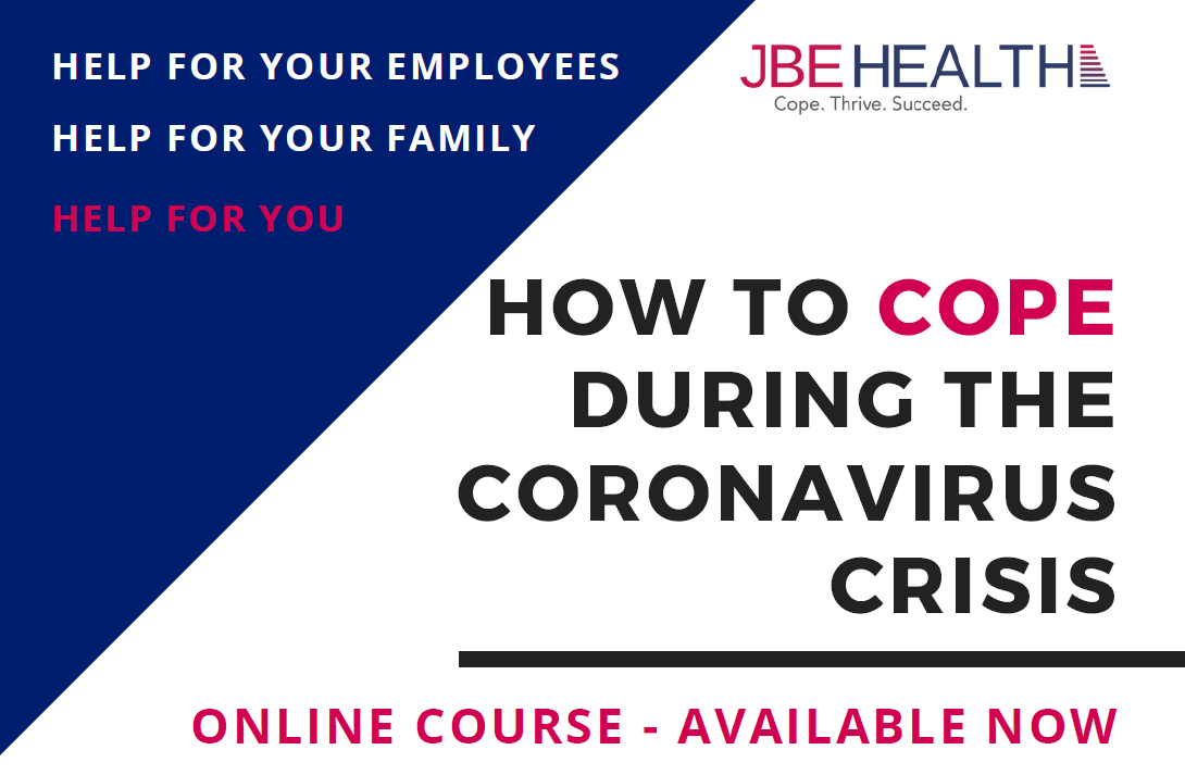 Coronavirus Covid-19 resilience emotional health online course JBE Health